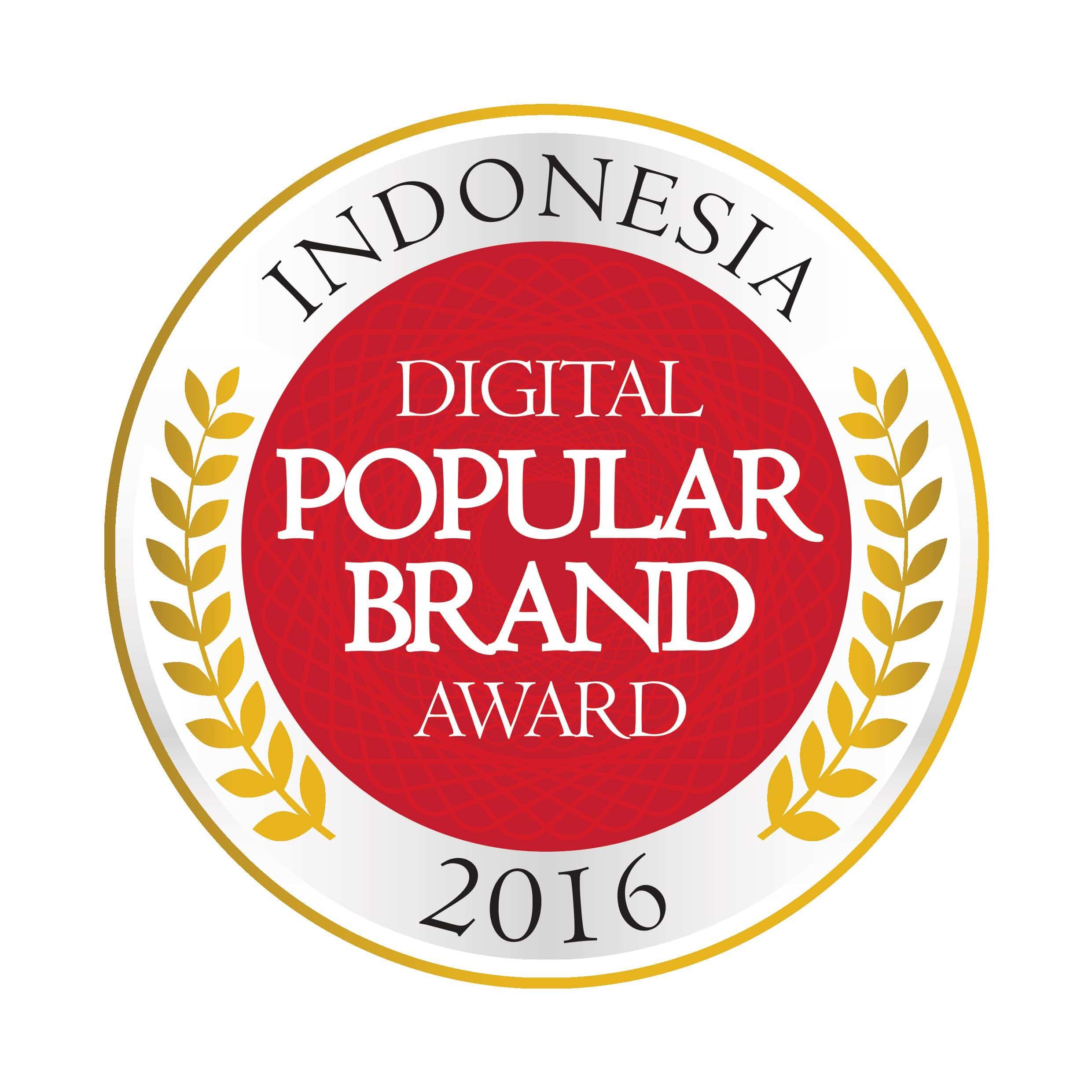 INDONESIA DIGITAL POPULAR BRAND AWARD 2016